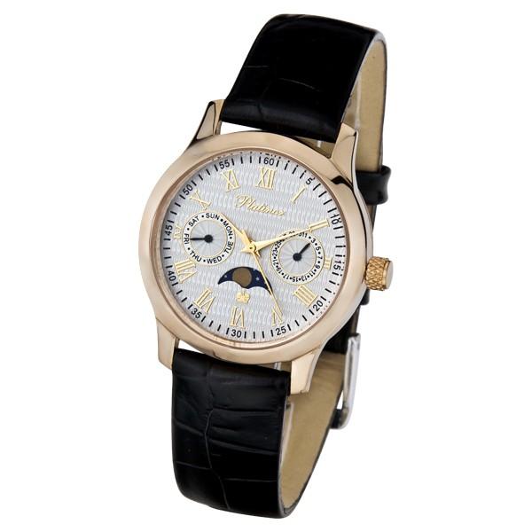 часы мужские наручные золотые platinor